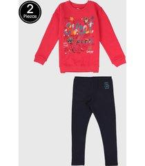 conjunto rosa-azul oscuro-multicolor boboli