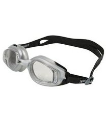 óculos de natação speedo smart slc 509212-812005, cor: preto/cinza, tamanho: único
