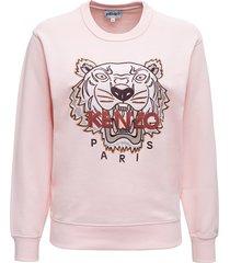 kenzo classic tiger pink cotton sweatshirt