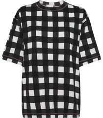 boris, 1003 drapy jersey t-shirts & tops short-sleeved svart stine goya