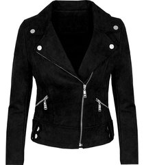 biker jacket suede zwart