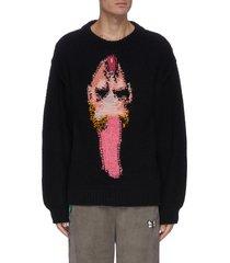 hand knit punk jacquard sweater