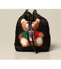 moschino couture crossbody bags moschino couture nylon bucket bag with teddy