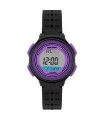 relógio digital mormaii feminino - mo0974f/8g preto