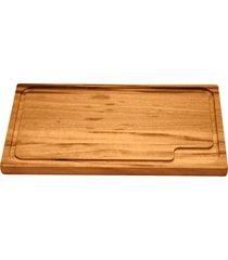 tábua para churrasco tramontina retangular em madeira muiracatiara com acabamento envernizado 47 x 30,7 cm 10066100