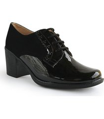 zapato charol negro tacon 37213025negro mujer
