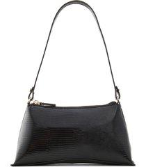 who what wear selene faux leather shoulder bag - black