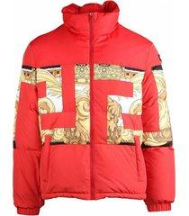 greca barocco down jacket