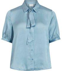 knytblus visuwavey s/s bow shirt