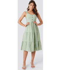 trendyol yol buttoned midi dress - green