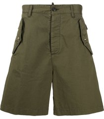 dsquared2 wide-leg cargo shorts - green