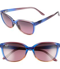 women's maui jim honi 54mm polarizedplus2 cat eye sunglasses - sunset/ maui rose