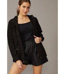amaro feminino jaqueta parka sarja regulador, preto