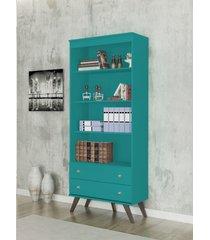 estante 2 gavetas turquesa azul - azul - dafiti