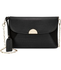 sole society blyth faux leather clutch -