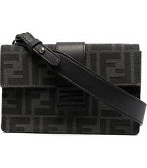 fendi baguette pouch crossbody bag - black