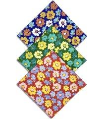 construct x best friends unisex flower bandanas, 3 pack