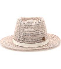 maison michel andre trilby hat in woven hemp