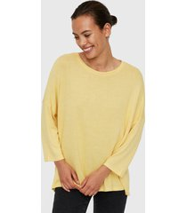 sweater vero moda amarillo - calce holgado