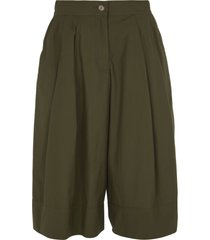 moncler buttoned cropped trousers