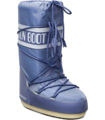 moon boot nylon shoes boots ankle boots ankle boot - flat blå moon boot
