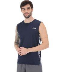 camiseta regata adidas d2m 3s 19 - masculina - azul escuro