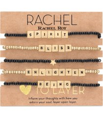 rachel rachel roy gold-tone 5-pc. set bliss beaded stretch bracelets