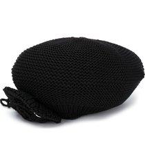 monnalisa woven knit beret - black