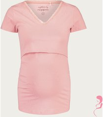 noppies zwangerschapspyjamashirt / voedingsshirt floor
