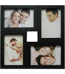 painel multifotos para 4 fotos 29,5x29,5cm preto