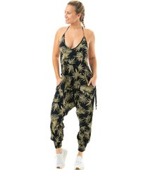 buddha pants women's jumper - palm frond xx-small cotton