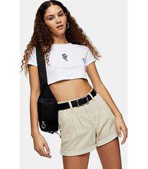 considered sand balloon high waist denim shorts - sand
