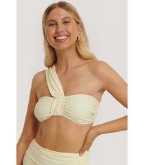 na-kd swimwear bikinitopp med remmar - offwhite
