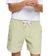 men's topman corduroy drawstring shorts, size 28 - green