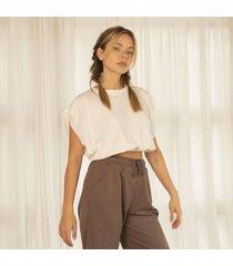 tshirt marfil para mujer penelope t- shirt penelope-beige-l