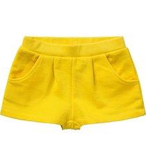 room seven  meisjes katoenen sweat korte broek shorts harian- geel