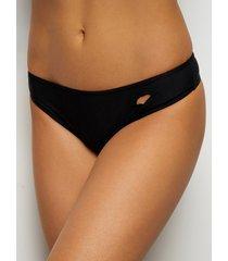 pantalón de bikini negro ahuecado diseño