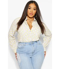 plus smudge spot oversized shirt, taupe