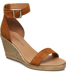 erin sandalette med klack espadrilles brun pavement