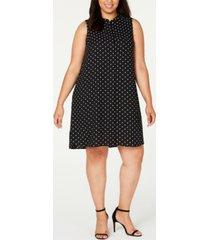 anne klein plus size sleeveless printed swing dress