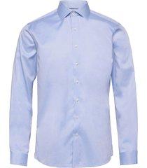 plain fine twill shirt, wf ls overhemd business blauw lindbergh