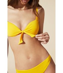 calzedonia padded push-up swimsuit top indonesia woman yellow size 6