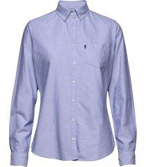 sarah oxford shirt overhemd met lange mouwen blauw lexington clothing
