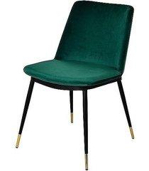 krzesło welurowe stone zielone