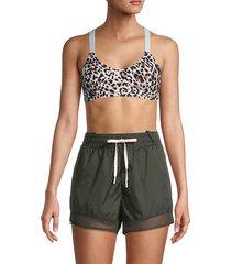 leopard-print sports bra