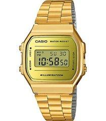 reloj csio retro a168wegm-9d color dorado