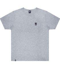 camiseta estampa logo no stress mescla - kanui