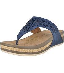 sandalia cuña alnair azul alquimia