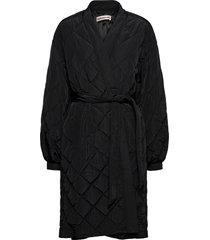gwen gevoerde lange jas zwart custommade