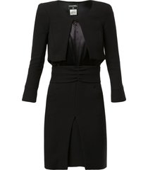 chanel pre-owned bolero thigh-length dress - black